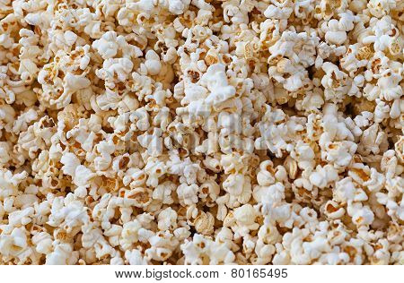 Closeup View Of Fresh, Fluffy Popcorn