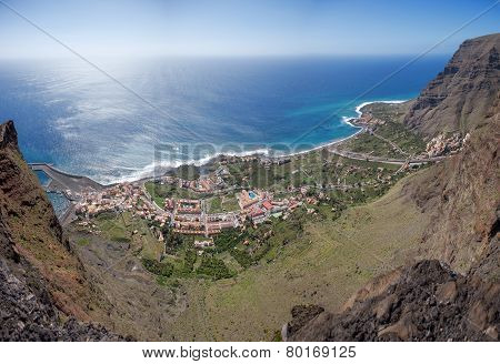 La Gomera - Aerial view of Valle Gran Rey