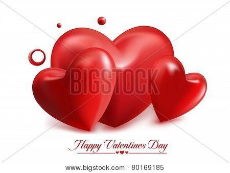 Valentines Day Red Sweet Balloon Hearts