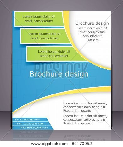 Layout Business Brochure. Template, Or Magazine Cover.