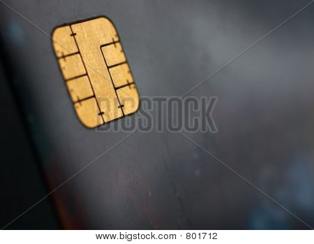 credit card, view of the chip