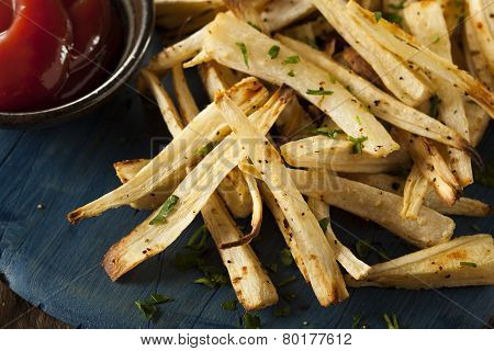 Homemade Parsley Root French Fries