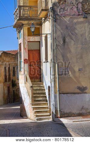 Alleyway. Genzano di Lucania. Italy.