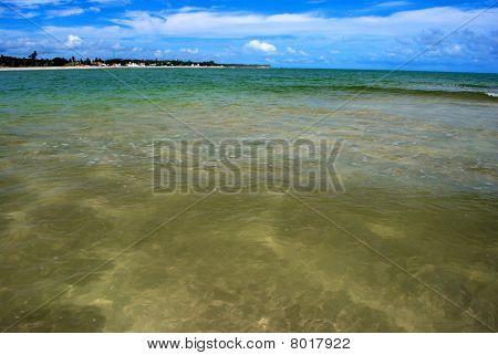 crystalline green sea in Alagoas Brazil