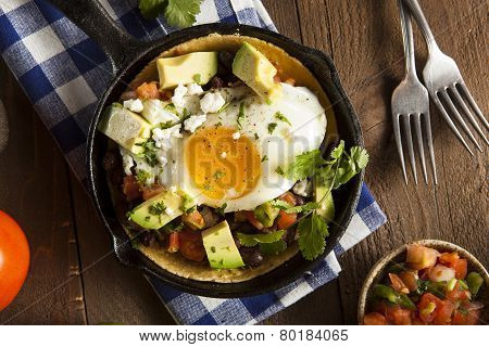 Homemade Heuvos Rancheros With Avocado