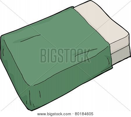 Mattresses With Green Blanket