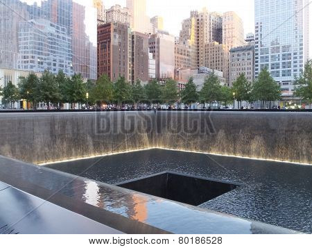 9/11 memorial site at the World Trade Center Ground Zero