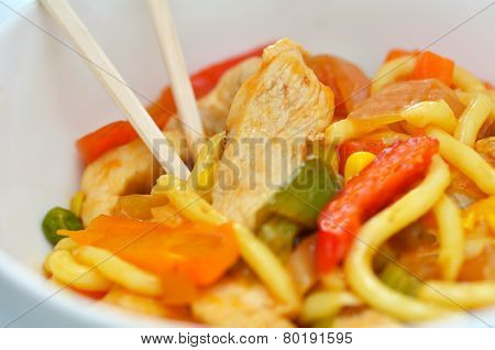 Asian Noodles Dish