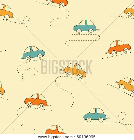 Cars seamless background