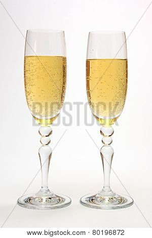 Glasses with champagne.