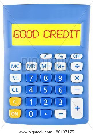 Calculator With Good Credit