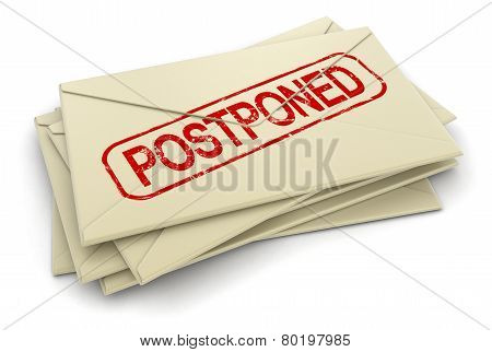 postponed letters  (clipping path included)