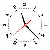 image of face painting  - Vector clock on white background - JPG