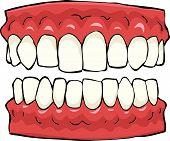 picture of false teeth  - False teeth on a white background vector illustration - JPG