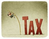 picture of pole  - jump over a tax with a pole - JPG