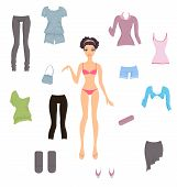 foto of bolero  - Cute paper doll with assortment of clothes - JPG