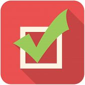 stock photo of tasks  - Completed Tasks modern flat icon with long shadow - JPG