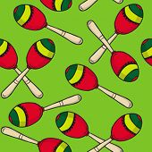 image of maracas  - maracas seamless pattern - JPG