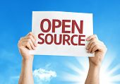 stock photo of open-source  - Open Source card with a beautiful day - JPG