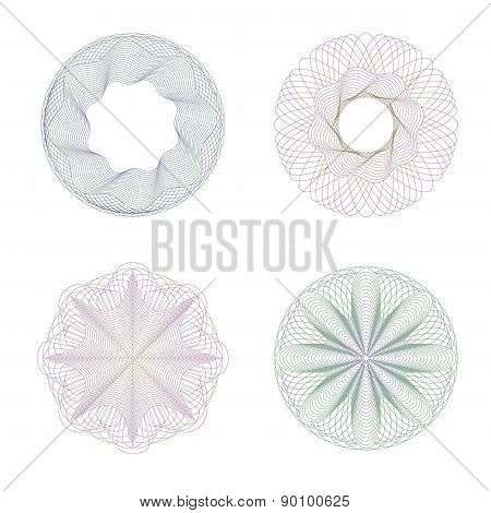 Four Rosettes Guilloche