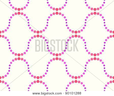 pattern of dots, pink and purple