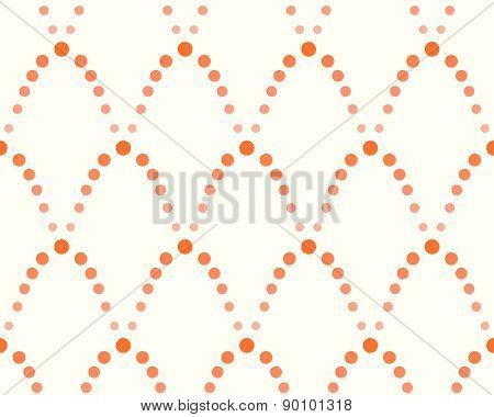 pattern of dots, shades of orange