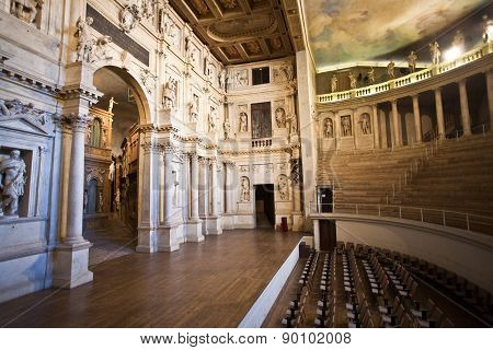 Theatro Olympico In Vicenca Is The Oldest Surviving Stage Set