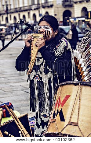 Native Americans Street Musician