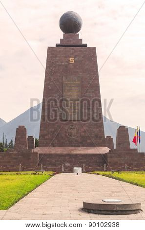 Imposing Monument Of Center Of The World, Mitad Del Mundo, South America