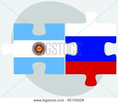 Argentina And Russian Federation In Puzzle