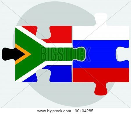 South Africa And Russian Federation In Puzzle