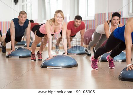 Fitness Group Training With Bosu