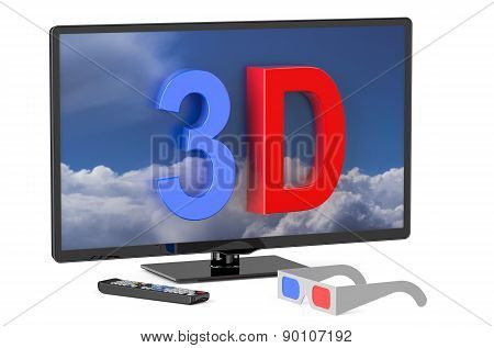 3D Television And 3D Glasses