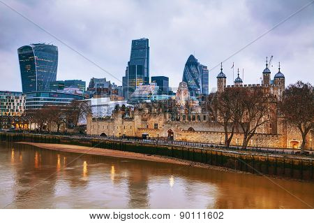 Financial District Of The City Of London