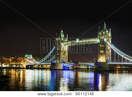 Tower Bridge Panoramic Overview In London, Great Britain