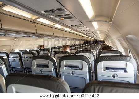 Inside The Cabin Of An Aircraft