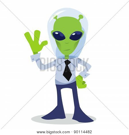 Alien corporate character