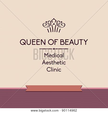Queen of beauty. Logo for aesthetic medicine clinic
