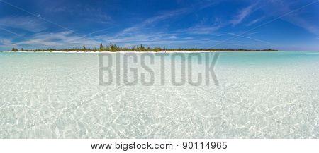 Panoramic view of tropical beach