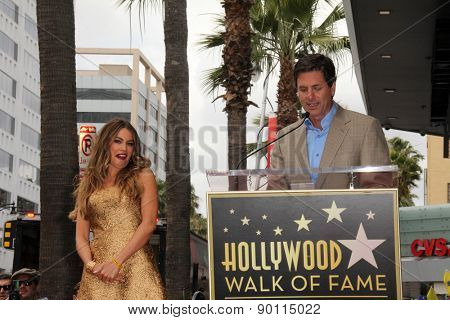 LOS ANGELES - MAY 7:  Sofia Vergara, Steven Levitan at the Sofia Vergara Hollywood Walk of Fame Ceremony at the Hollywood Blvd on May 7, 2015 in Los Angeles, CA