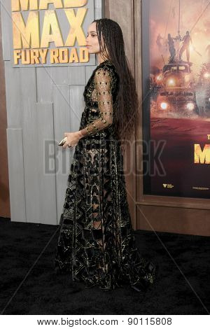 LOS ANGELES - MAY 7:  Zoe Kravitz at the Mad Max: Fury Road Los Angeles Premiere at the TCL Chinese Theater IMAX on May 7, 2015 in Los Angeles, CA