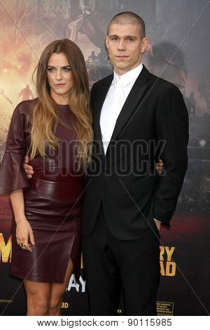 LOS ANGELES - MAY 7:  Riley Keough at the Mad Max: Fury Road Los Angeles Premiere at the TCL Chinese Theater IMAX on May 7, 2015 in Los Angeles, CA