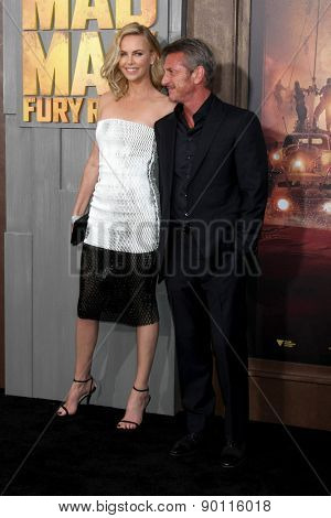 LOS ANGELES - MAY 7:  Charlize Theron, Sean Penn at the Mad Max: Fury Road Los Angeles Premiere at the TCL Chinese Theater IMAX on May 7, 2015 in Los Angeles, CA