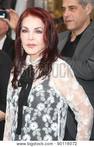 LOS ANGELES - MAY 7:  Priscilla Presley at the Mad Max: Fury Road Los Angeles Premiere at the TCL Chinese Theater IMAX on May 7, 2015 in Los Angeles, CA