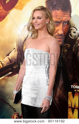 LOS ANGELES - MAY 7:  Charlize Theron at the Mad Max: Fury Road Los Angeles Premiere at the TCL Chinese Theater IMAX on May 7, 2015 in Los Angeles, CA