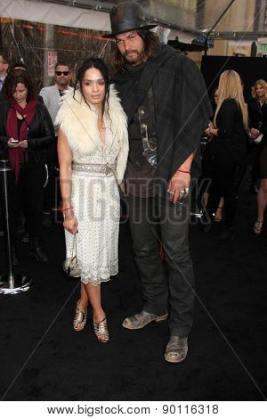LOS ANGELES - MAY 7:  Lisa Bonet, Jason Momoa at the Mad Max: Fury Road Los Angeles Premiere at the TCL Chinese Theater IMAX on May 7, 2015 in Los Angeles, CA