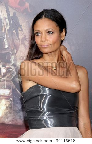 LOS ANGELES - MAY 7:  Thandie Newton at the Mad Max: Fury Road Los Angeles Premiere at the TCL Chinese Theater IMAX on May 7, 2015 in Los Angeles, CA