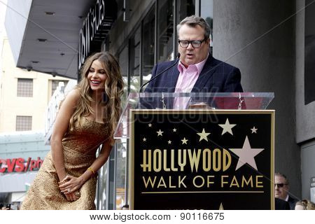 LOS ANGELES - MAY 7:  Sofia Vergara, Eric Stonestreet at the Sofia Vergara Hollywood Walk of Fame Ceremony at the Hollywood Blvd on May 7, 2015 in Los Angeles, CA