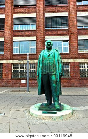 statue Of Founder Of The Car Factory Georg Von Opel
