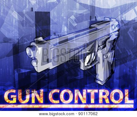 Abstract background digital collage concept illustration gun control